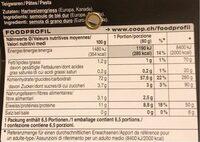 Fregola - Valori nutrizionali - fr
