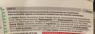 Hazerlnut Freeze Chocolate - Ingredienti - fr