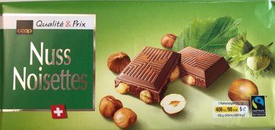 Chocolat au lait suisse avec des noisettes entières - Product - fr