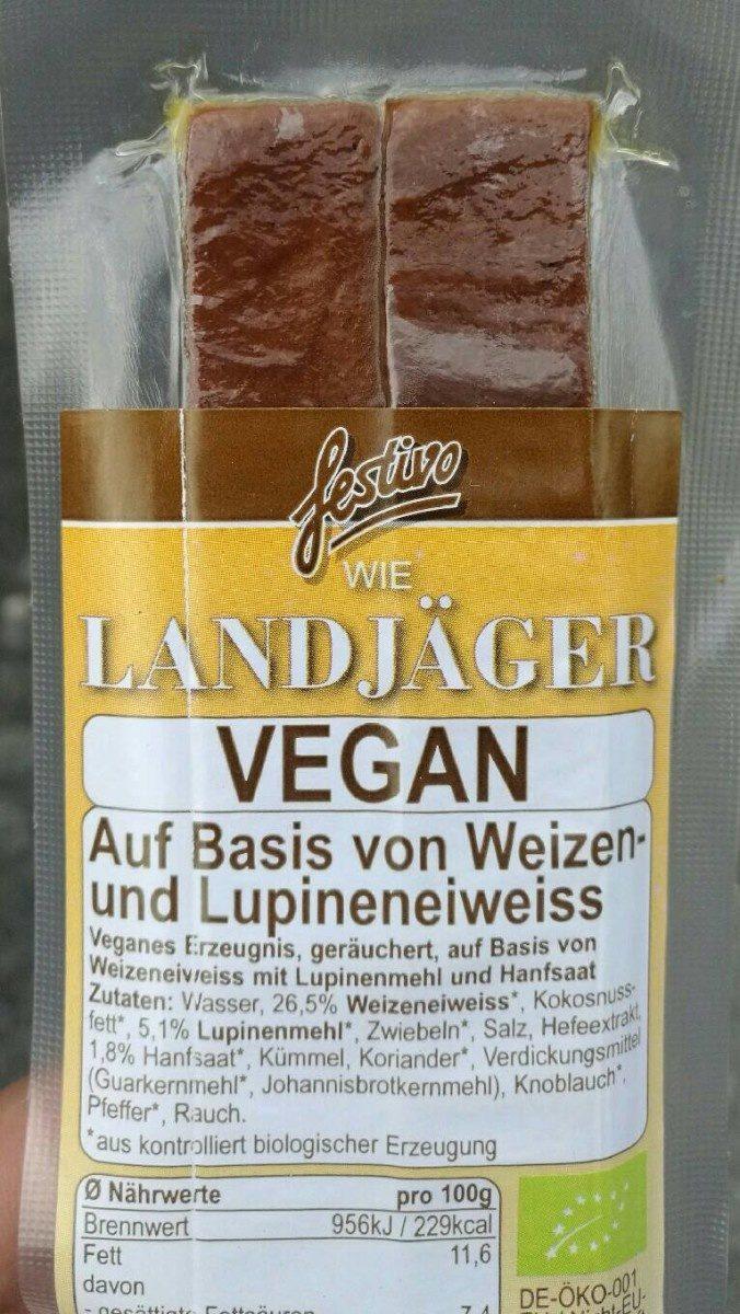 Landjäger Vegan - Product - fr