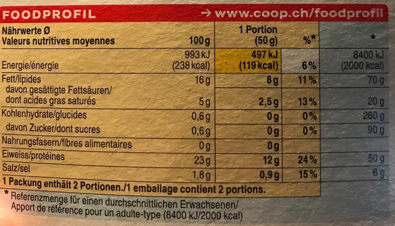 Stremellachs Saumon - Informations nutritionnelles - fr