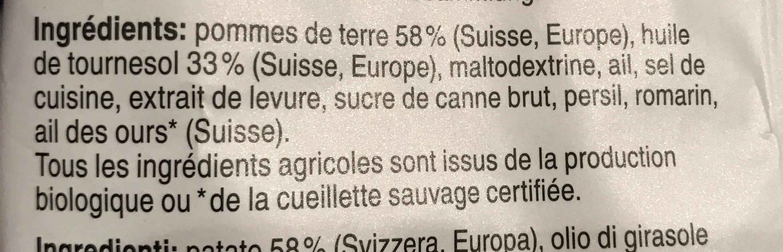 Chips Ail des ours bio - Ingredienti - fr