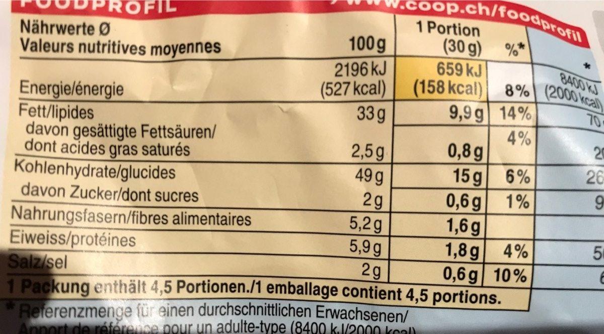 Chips Ail des ours bio - Nutrition facts - en