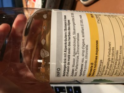 Mate et alpine herbs Ice Tea - Ingredients