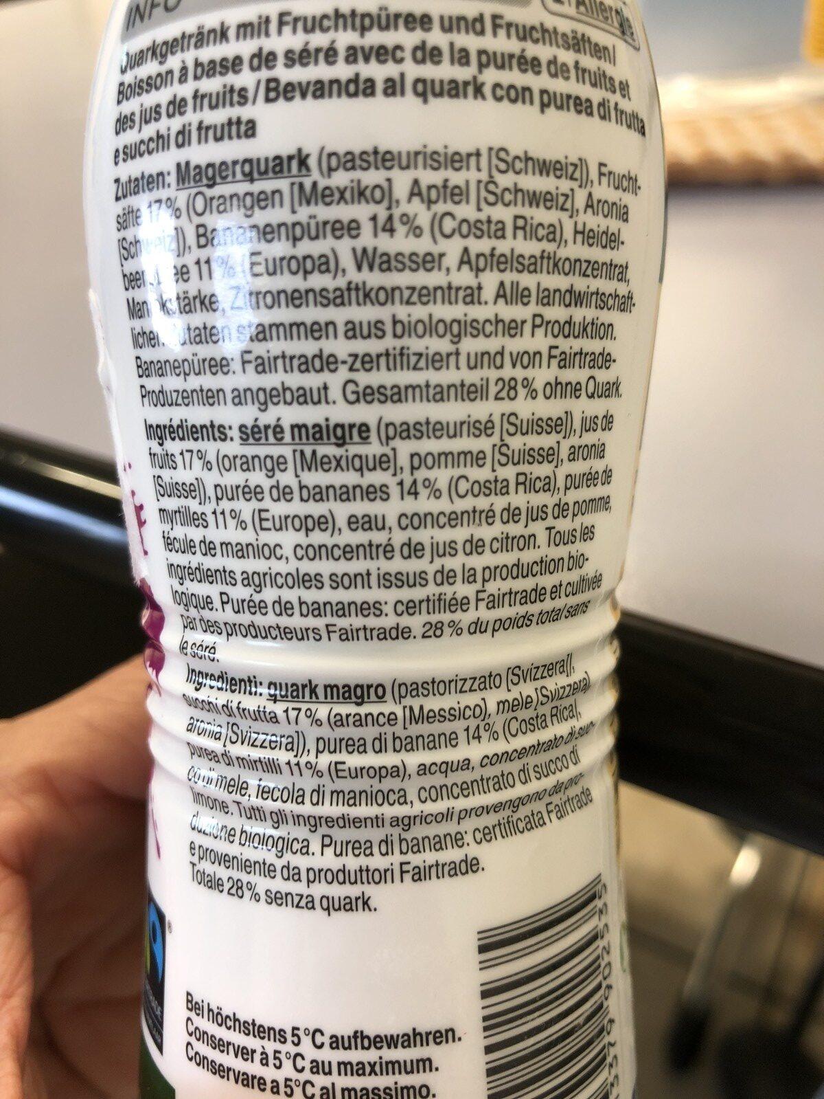 Purple protein smoothie - Ingrédients