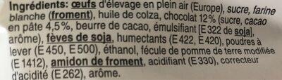 Madeleines chocolat - Ingrediënten