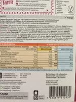 Bio Tofu Burger - Informations nutritionnelles