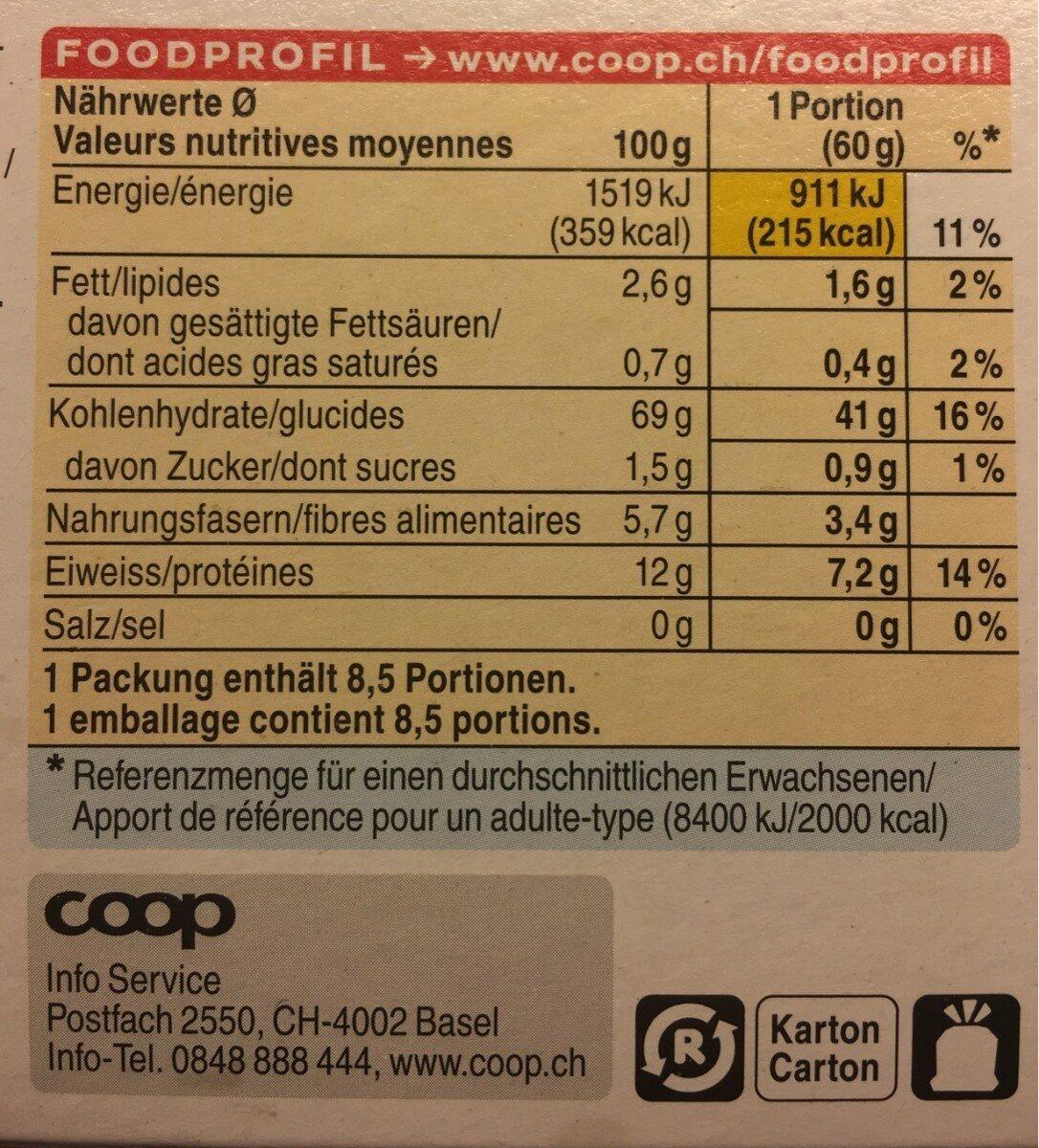 Bio Jasmine Rice Mix - Informations nutritionnelles - fr
