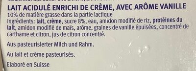 Cœur de Lait Vanille - Ingredients - fr