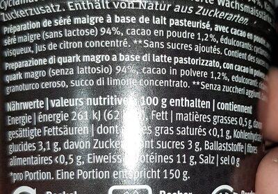 HIGH Protein Choco - Ingredients