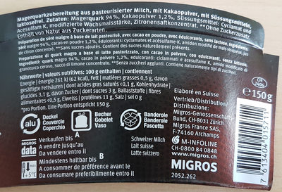 HIGH Protein Choco - Nutrition facts