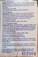 American XL-Toasy - Ingredients - fr