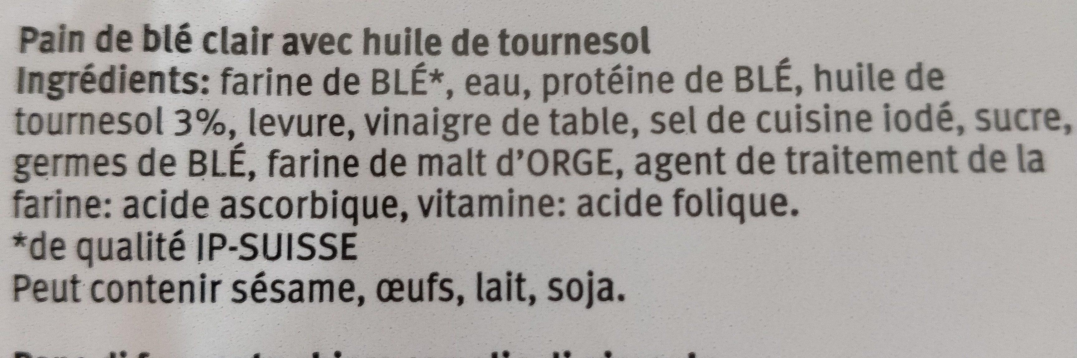 Toast Soleil - Ingredients - fr