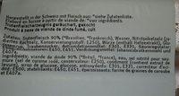 Poitrine de dinde extrafin - Ingredienti - fr