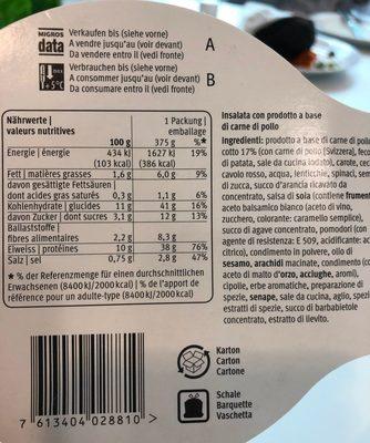 Salade poulet daily migros - Produit - fr