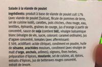 Salade poulet daily migros - Ingrédients - fr