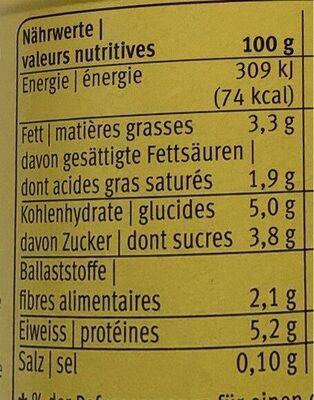 Bifidus yogourt Vanille - Valori nutrizionali - fr