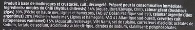 fruits de mer - Ingrédients - fr