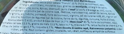 Saladbowl Tuna - Ingrédients - fr