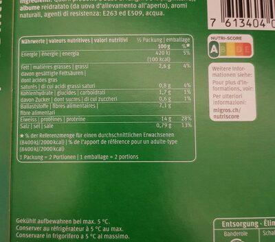 Emincé - Valori nutrizionali - fr