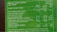 Cornatur hachis - Informations nutritionnelles - fr