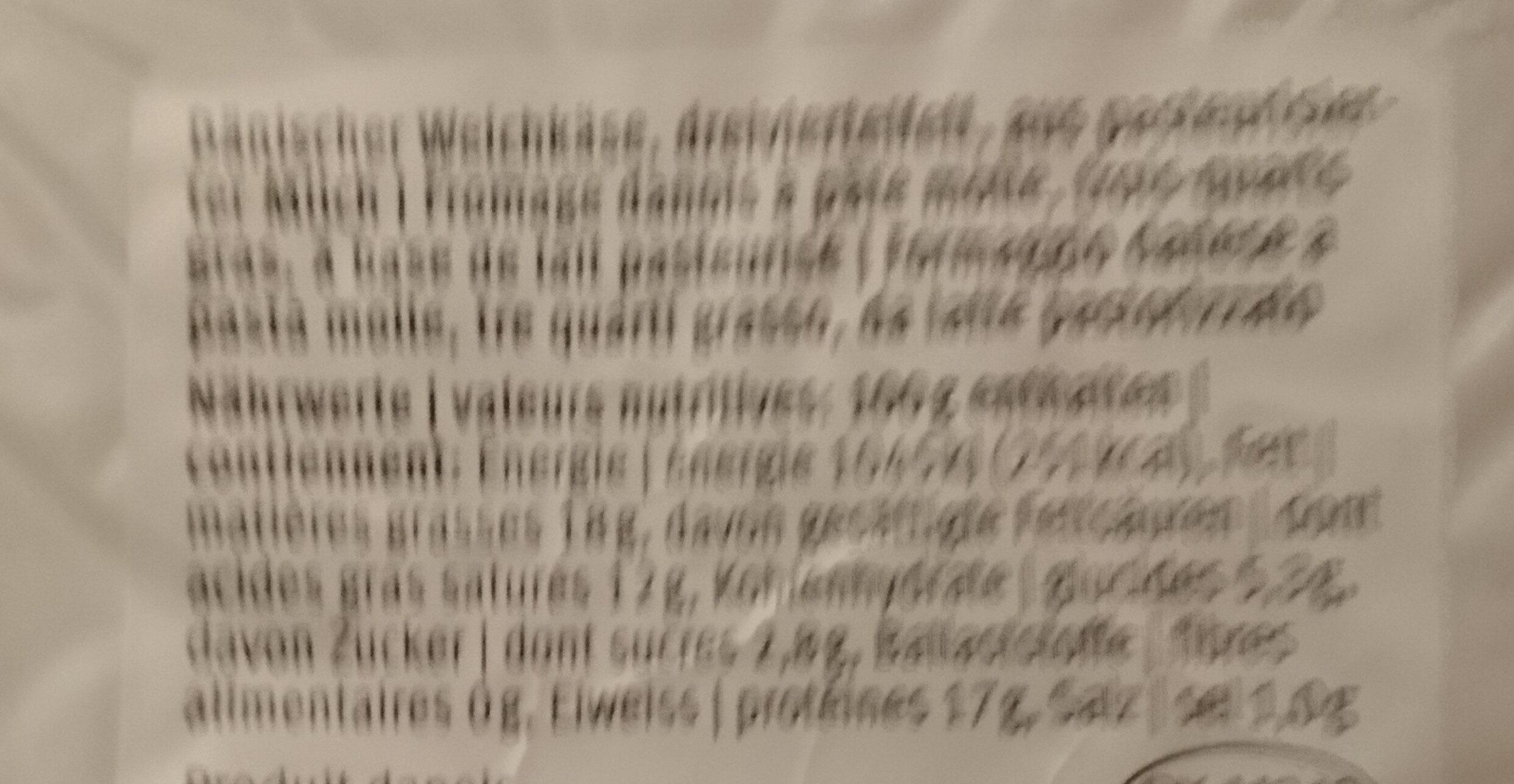 Paneer - Ingredients - en