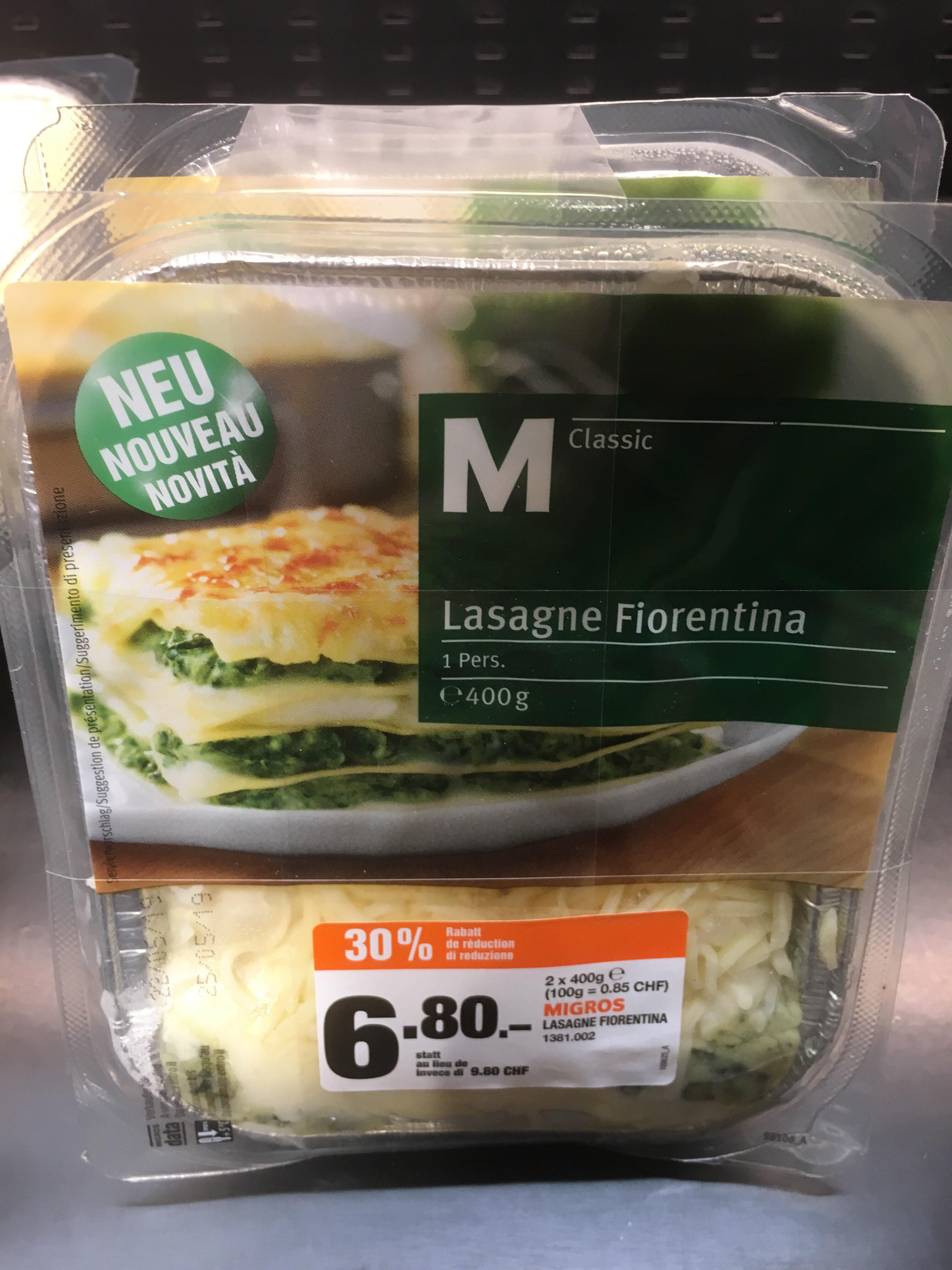 Lasagne Fiorentina - Produkt