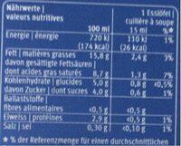 Demi creme M-classic - Valori nutrizionali - fr