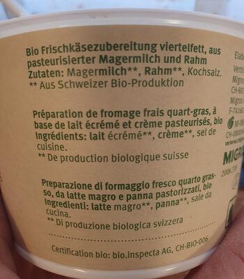Cottage Cheese - Ingrédients - fr