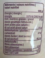 V-Love the Grated - Informations nutritionnelles - fr
