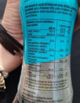 Smoothie Ananas- coco - Informazioni nutrizionali - fr