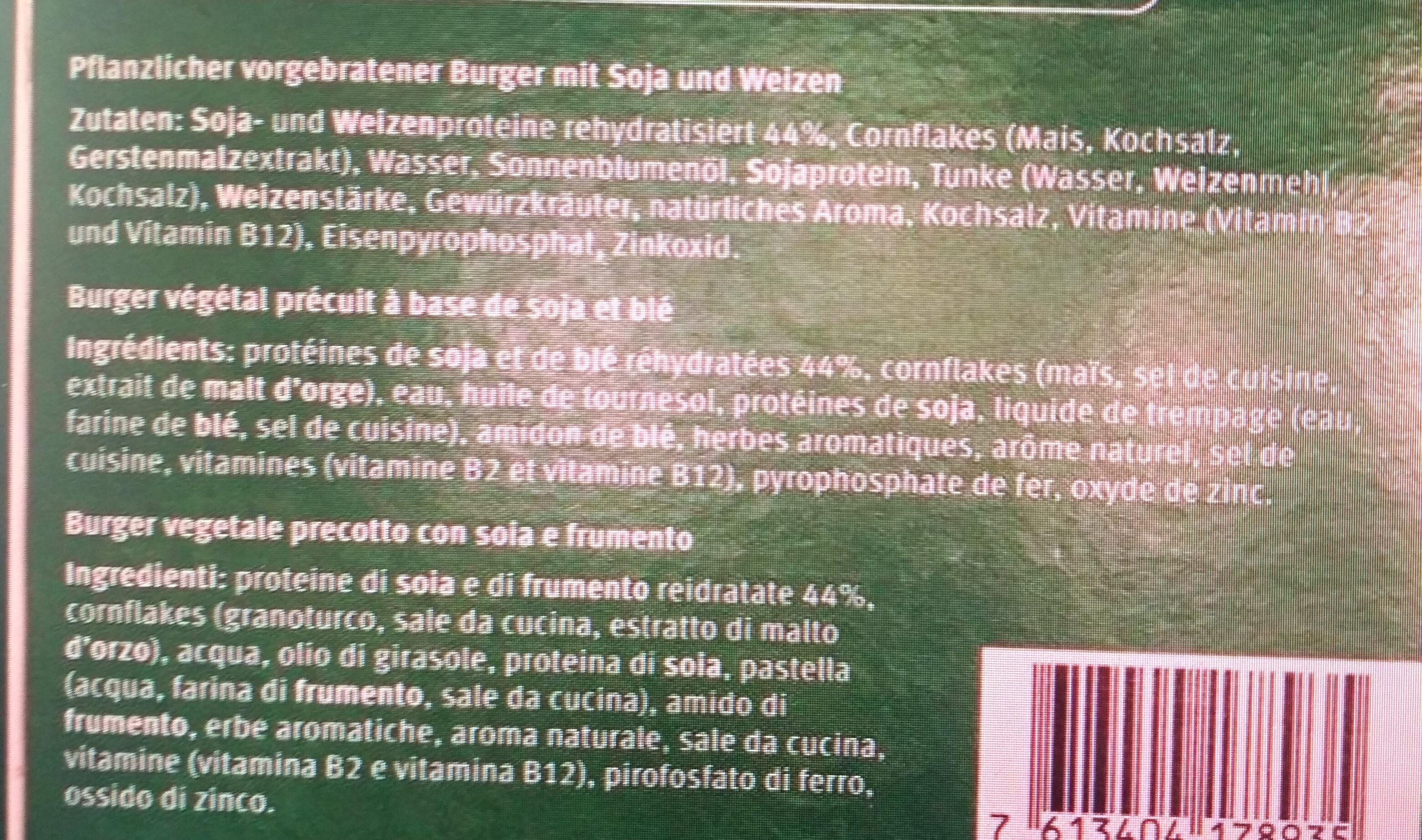 Crispy burger - Ingredients - en