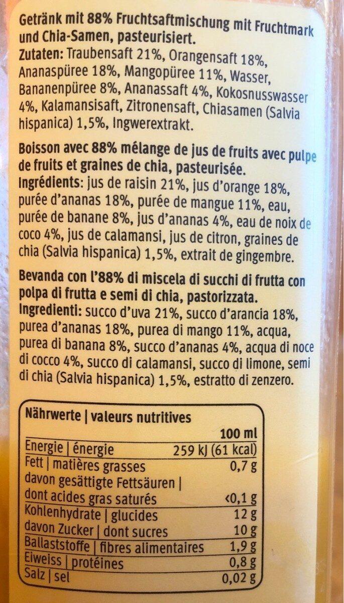 You super smoothie mango kokos ingwer - Voedingswaarden - fr