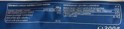 Dinkel Kuchenteig - Informazioni nutrizionali - fr