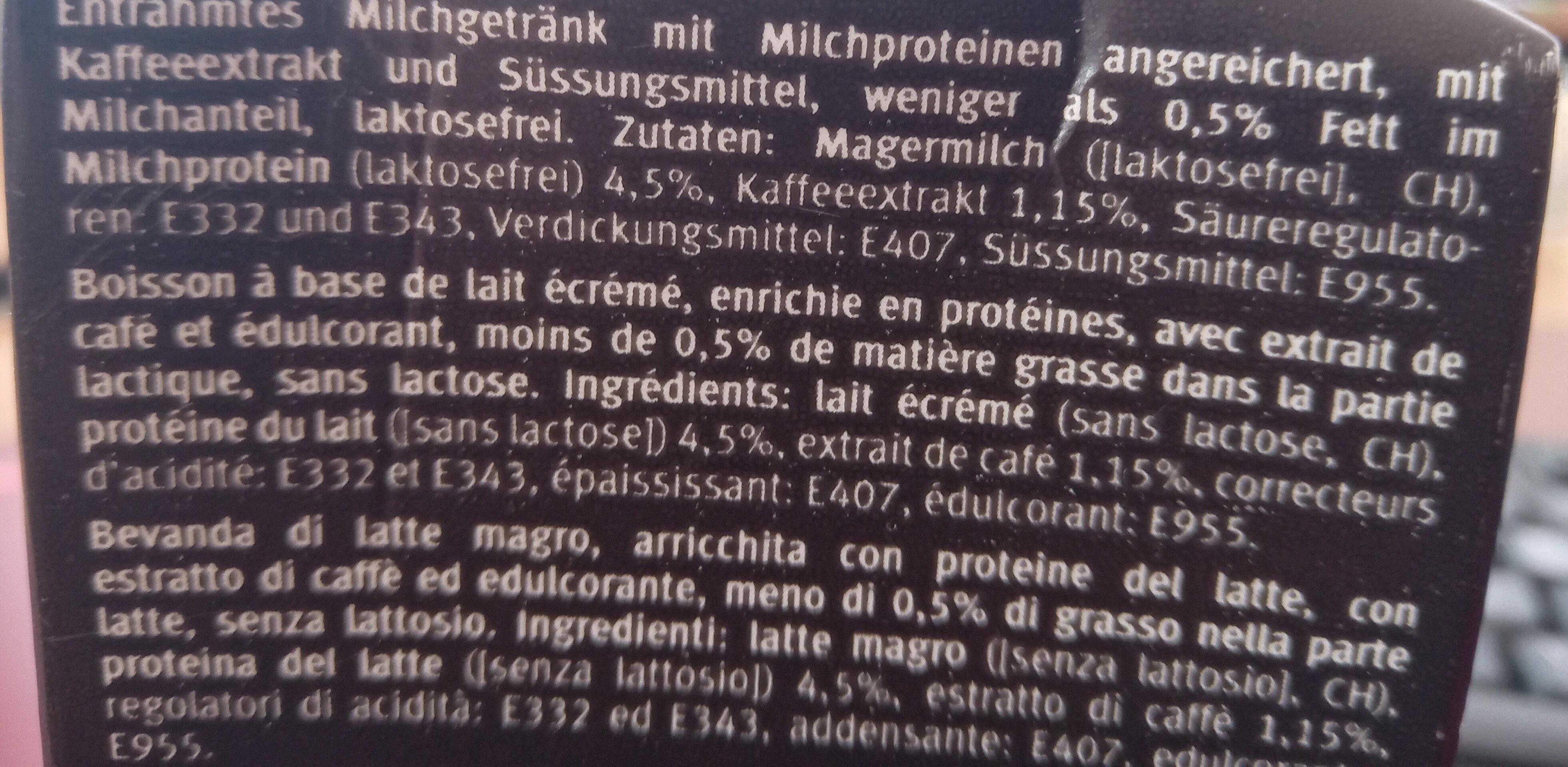 High Protein Drink Mokka - Ingredients