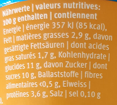Joghurt Pomme Caramel - Valori nutrizionali - it