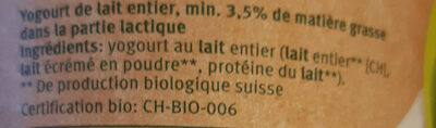 Nature Joghurt - Ingredients - fr