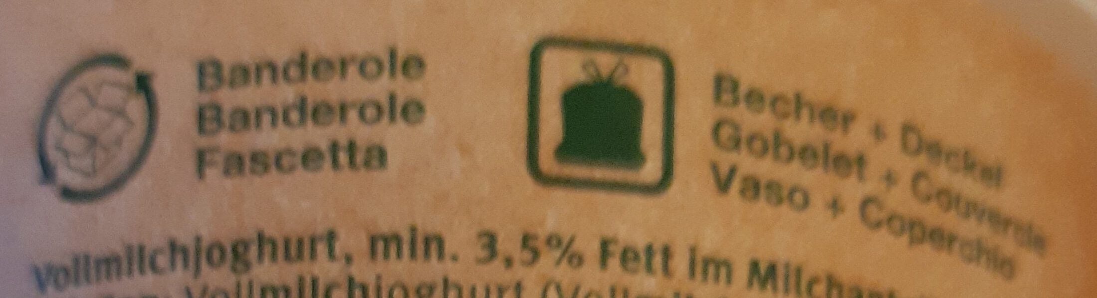 Nature Joghurt - Recycling instructions and/or packaging information - fr