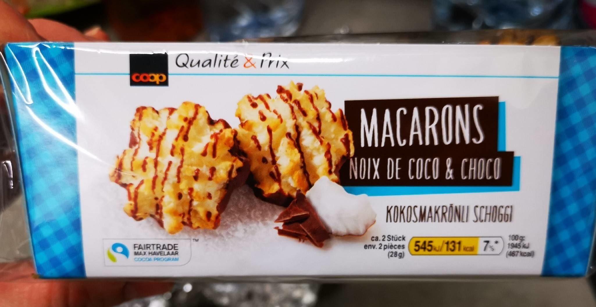 Macarons noix de coco choco - Produit