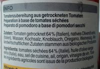 Bruschetta pomodori secchi - Ingredients