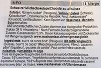 Chocolat lait - Ingrediënten - fr