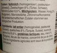 Jogurt Pruneau-Miel - Ingredients