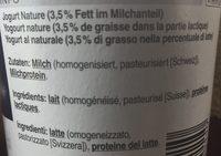 Jogurt nature - Ingredients