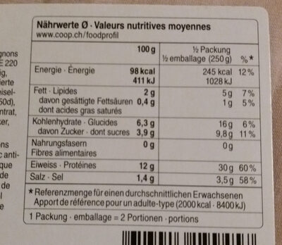 Bœuf Bourguignon - Nutrition facts