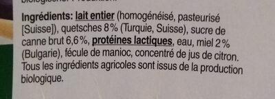 Jogurt pruneauMiel - Ingredients - fr