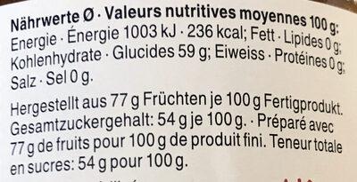 Moût de pomme - Valori nutrizionali - fr