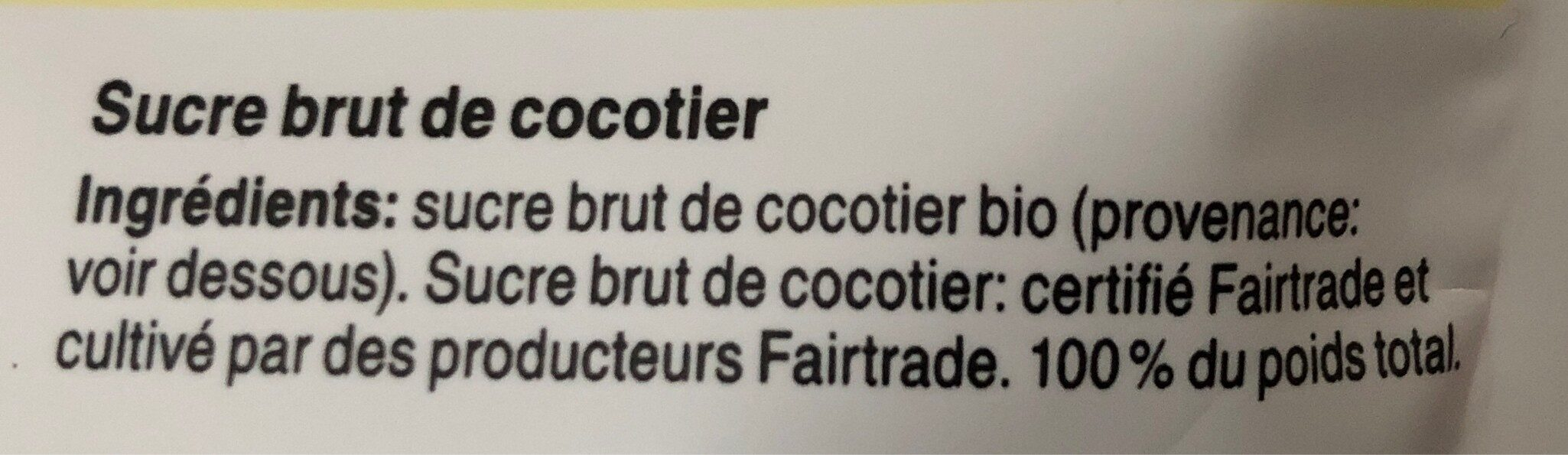 Sucre de fleur de coco - Ingredienti - fr