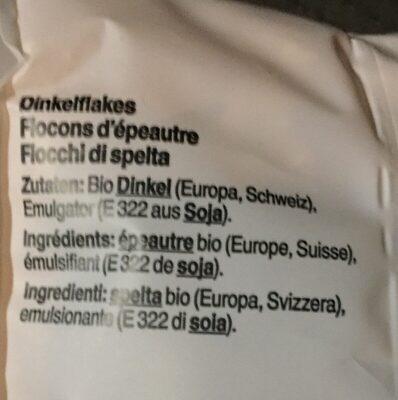 Flocons d'épeautre grillés - Ingredients - fr
