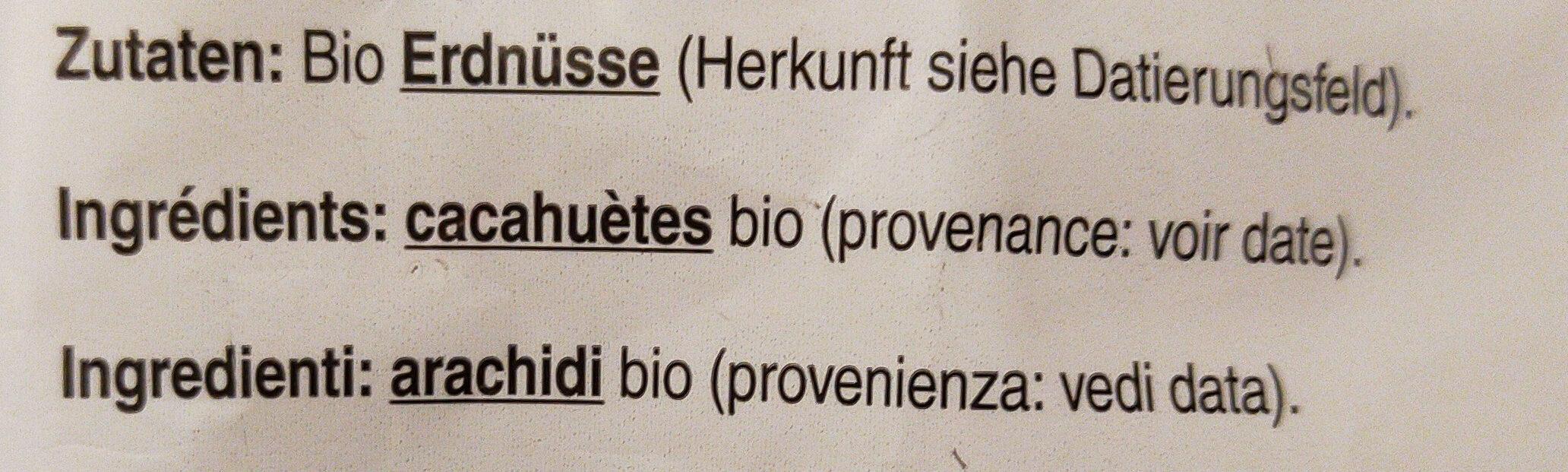 Cacahuète - Ingredienti - fr