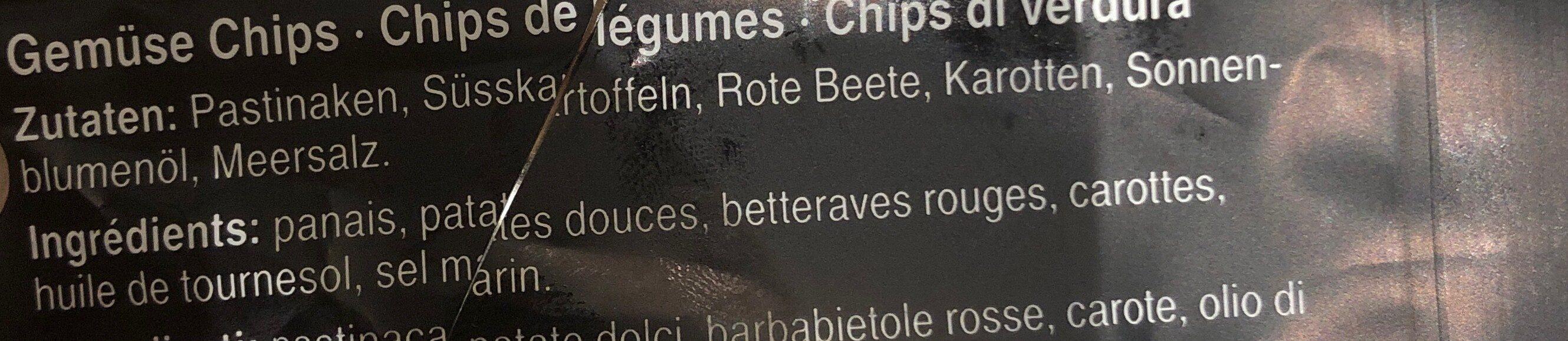 Chips de légumes - Ingredienti - fr